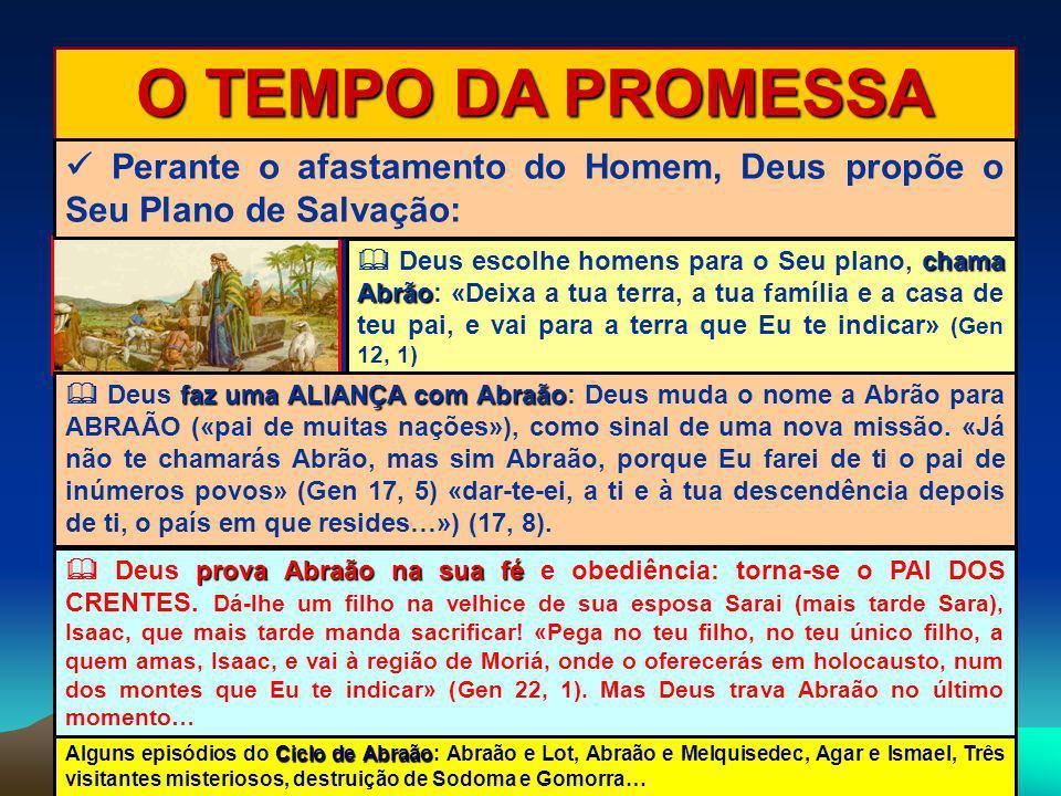 O TEMPO DA PROMESSA  Perante o afastamento do Homem, Deus propõe o Seu Plano de Salvação: