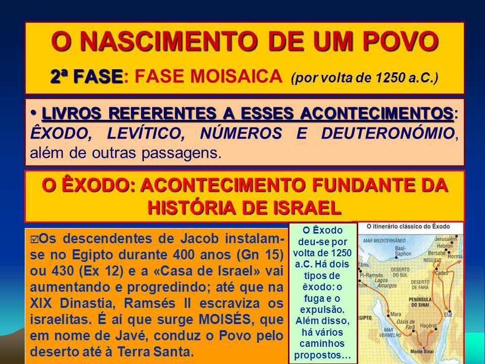 O NASCIMENTO DE UM POVO 2ª FASE: FASE MOISAICA (por volta de 1250 a.C.)