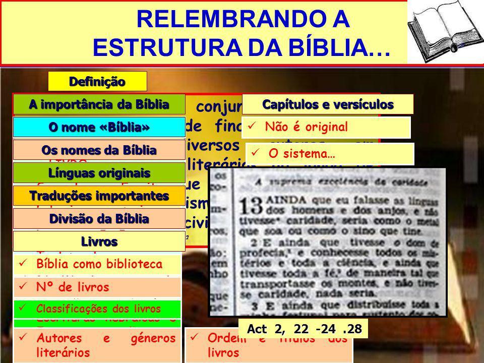 A importância da Bíblia Capítulos e versículos Traduções importantes