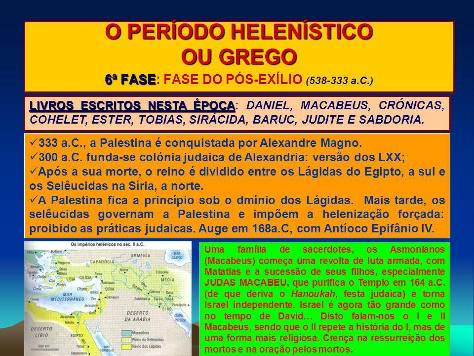 6ª FASE: FASE DO PÓS-EXÍLIO (538-333 a.C.)