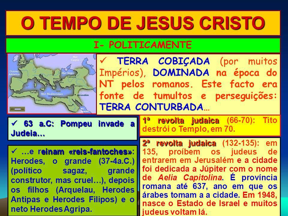 O TEMPO DE JESUS CRISTO I- POLITICAMENTE
