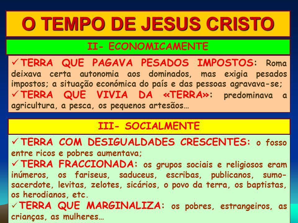 O TEMPO DE JESUS CRISTO II- ECONOMICAMENTE