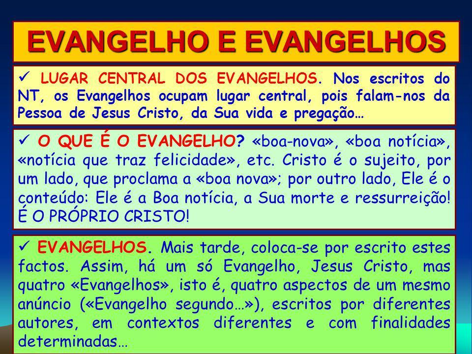 EVANGELHO E EVANGELHOS