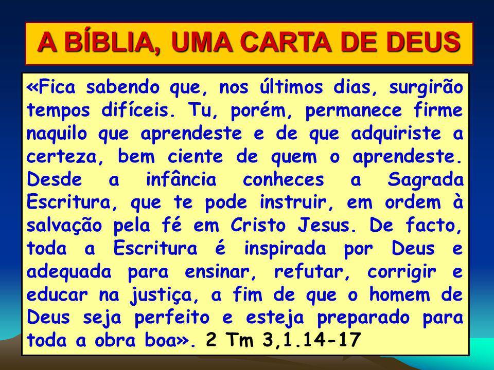 A BÍBLIA, UMA CARTA DE DEUS