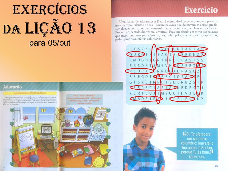 Exercícios da Lição 13 para 05/out