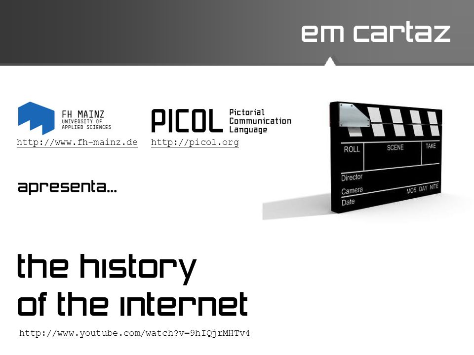 the history of the internet em cartaz apresenta...