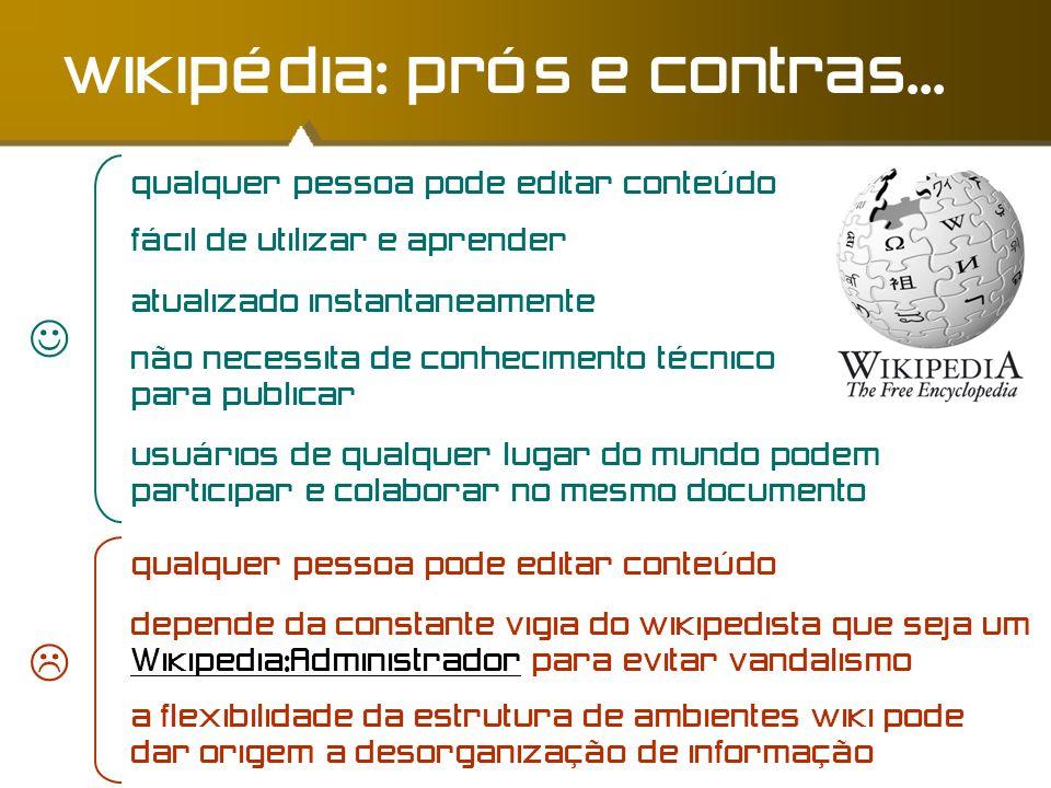 wikipédia: prós e contras...