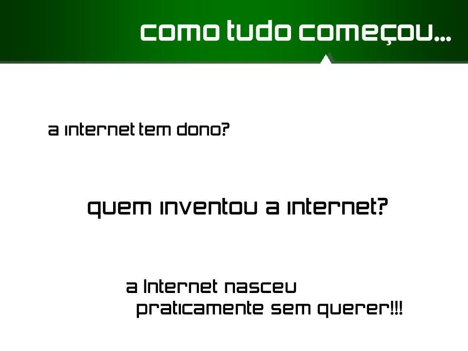 como tudo começou... quem inventou a internet