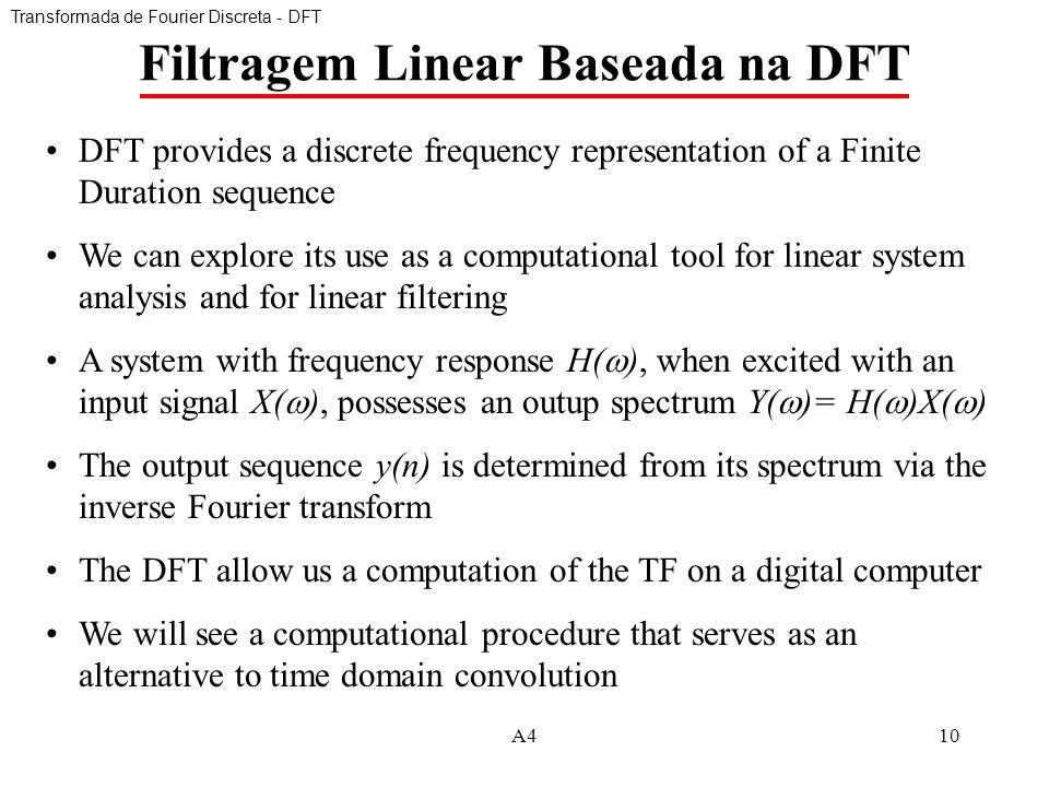 Filtragem Linear Baseada na DFT