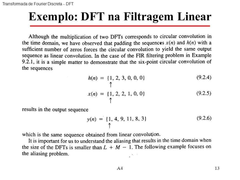 Exemplo: DFT na Filtragem Linear