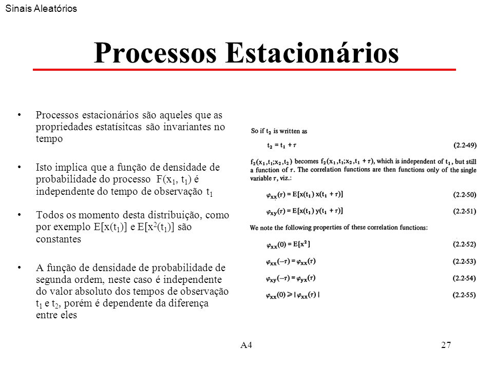 Processos Estacionários