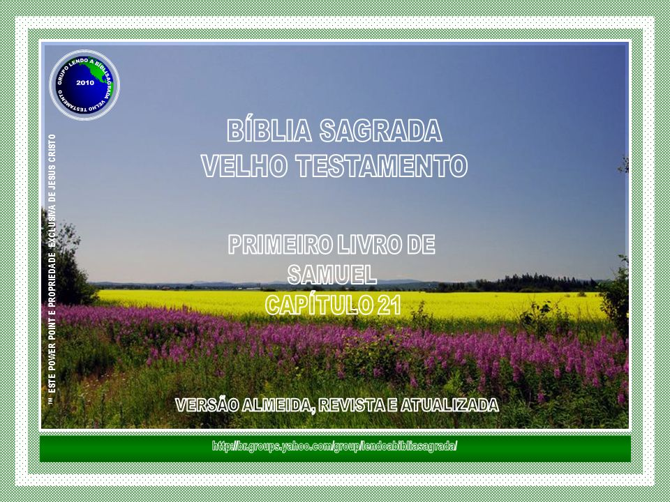™ ESTE POWER POINT E PROPRIEDADE EXCLUSIVA DE JESUS CRISTO