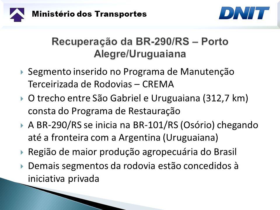 Recuperação da BR-290/RS – Porto Alegre/Uruguaiana