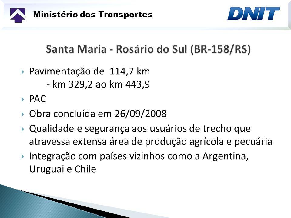 Santa Maria - Rosário do Sul (BR-158/RS)