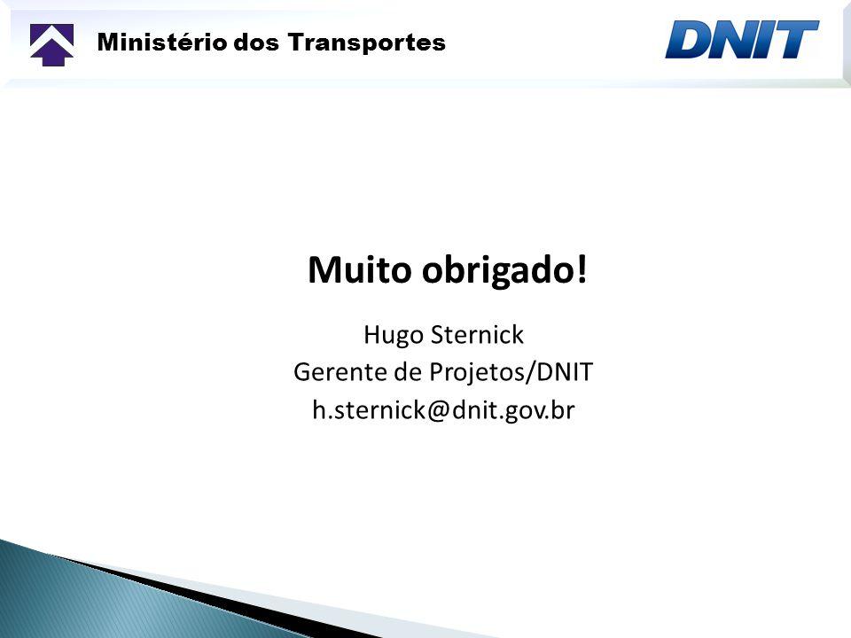 Hugo Sternick Gerente de Projetos/DNIT h.sternick@dnit.gov.br