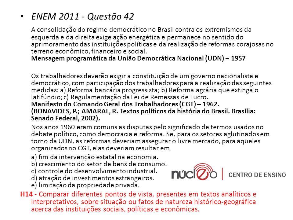 ENEM 2011 - Questão 42