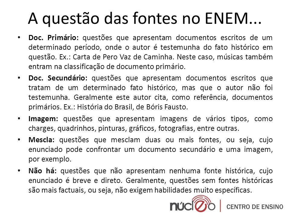 A questão das fontes no ENEM...