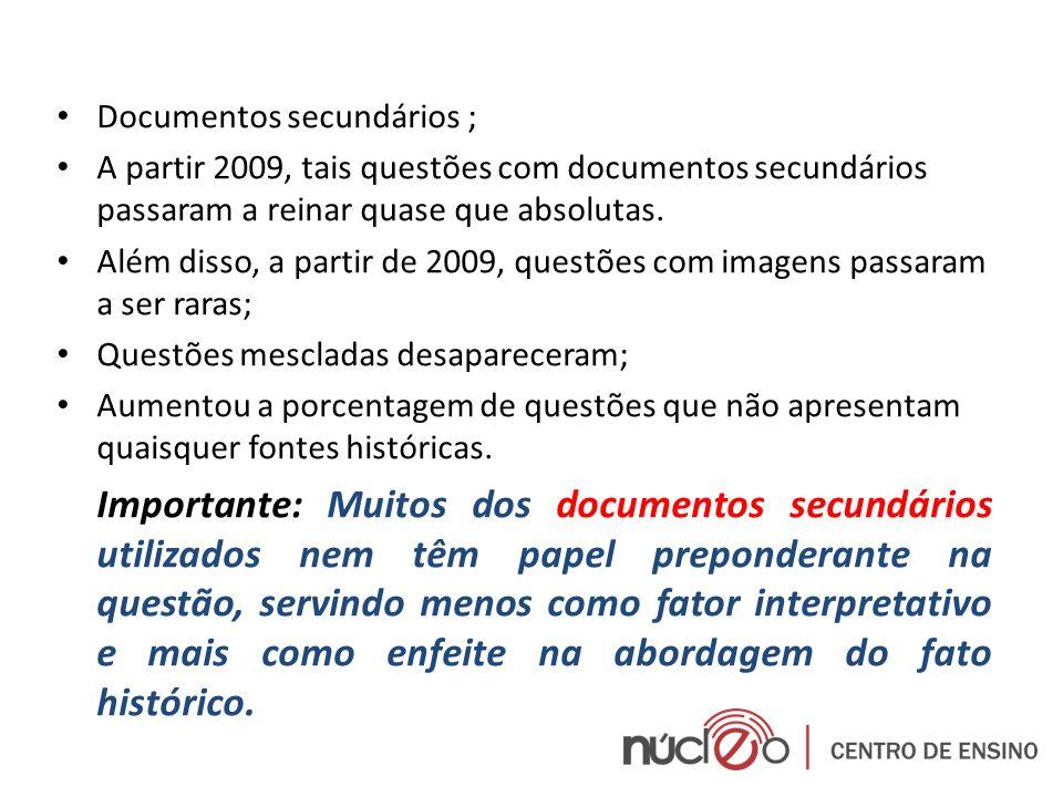 Documentos secundários ;