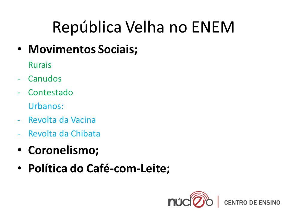 República Velha no ENEM