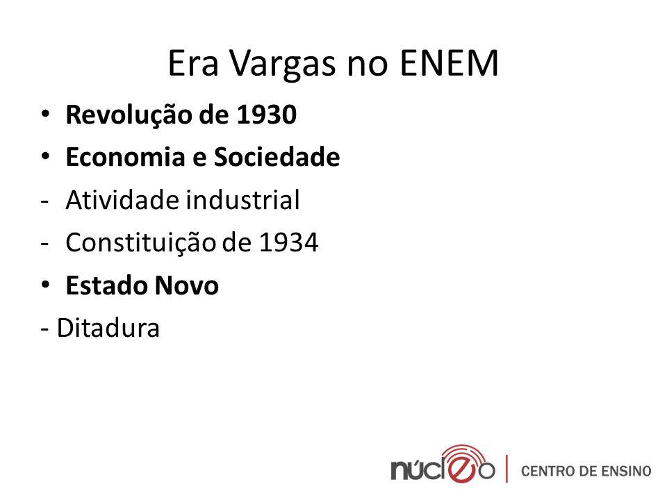 Era Vargas no ENEM Revolução de 1930 Economia e Sociedade
