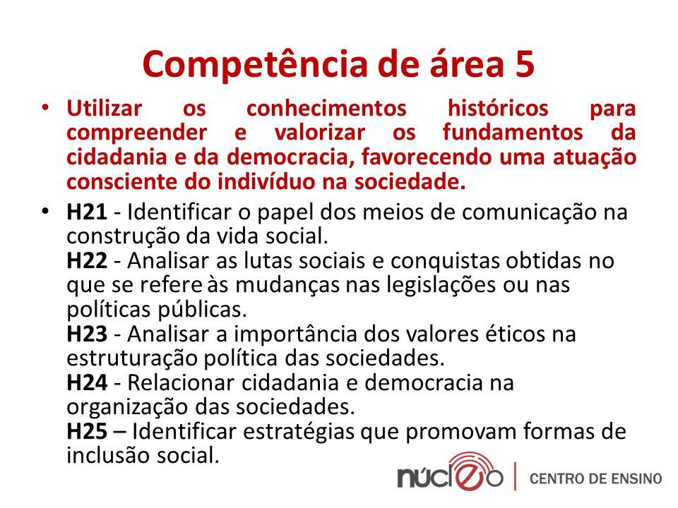 Competência de área 5