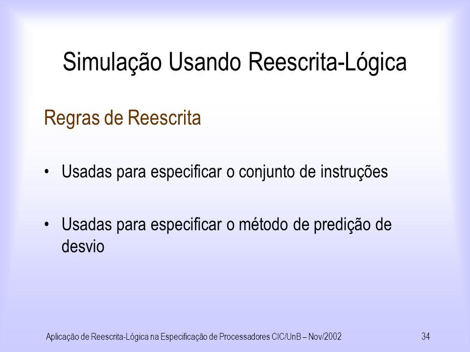 Simulação Usando Reescrita-Lógica
