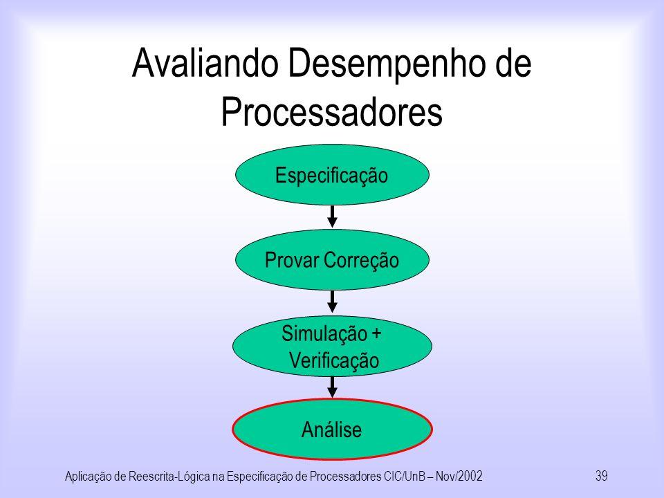 Avaliando Desempenho de Processadores