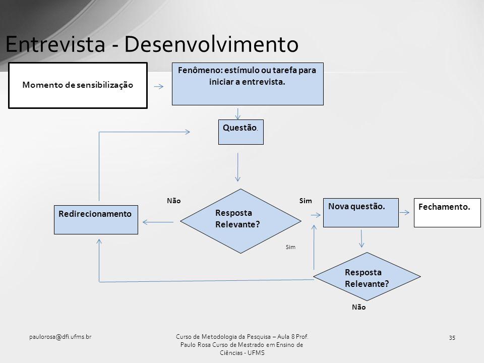 Entrevista - Desenvolvimento