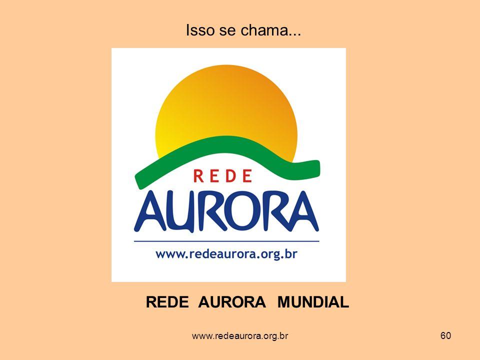 Isso se chama... REDE AURORA MUNDIAL www.redeaurora.org.br