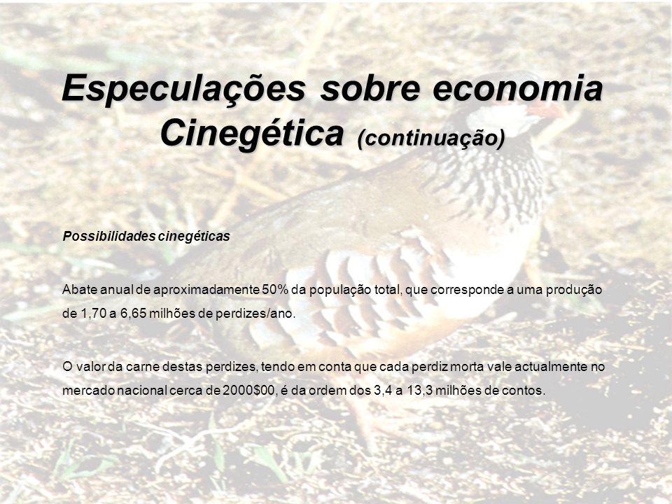 Especulações sobre economia Cinegética (continuação)