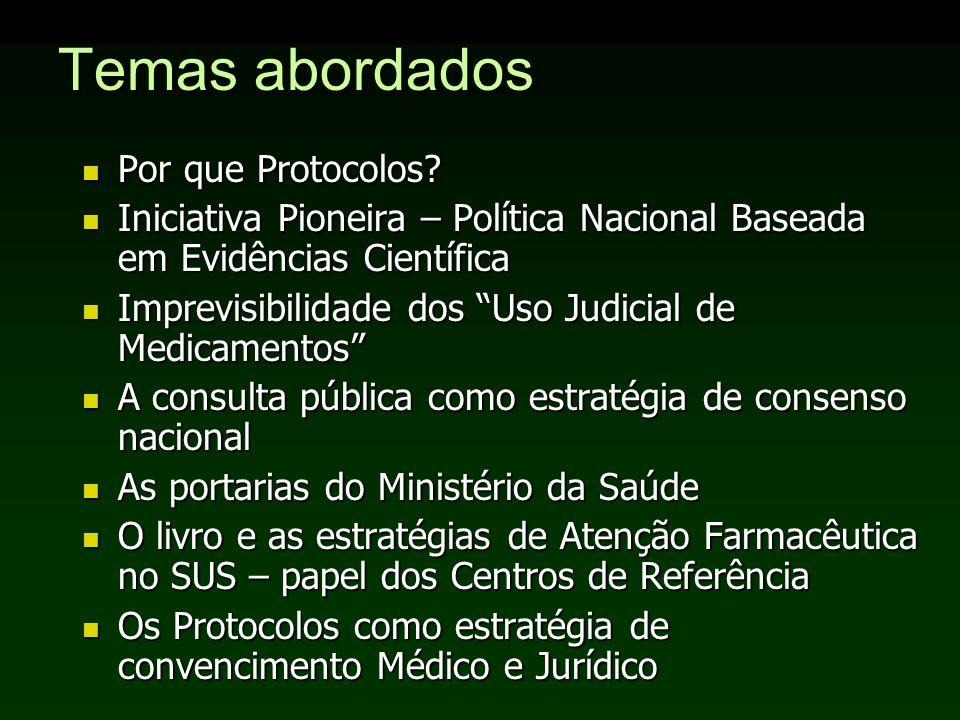 Temas abordados Por que Protocolos
