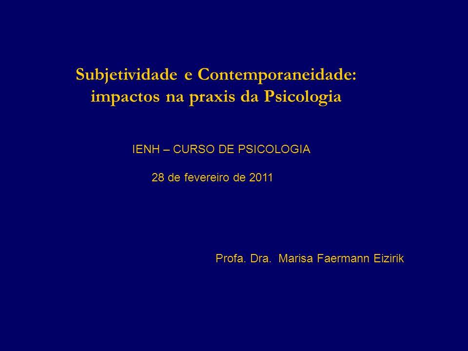 Subjetividade e Contemporaneidade: impactos na praxis da Psicologia