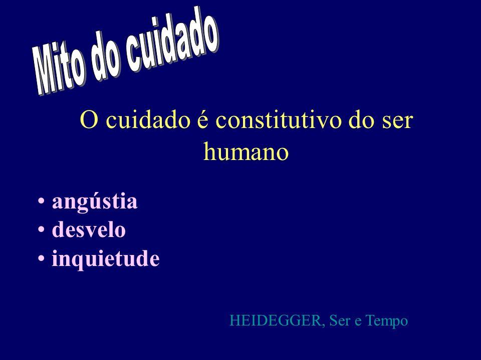 O cuidado é constitutivo do ser humano