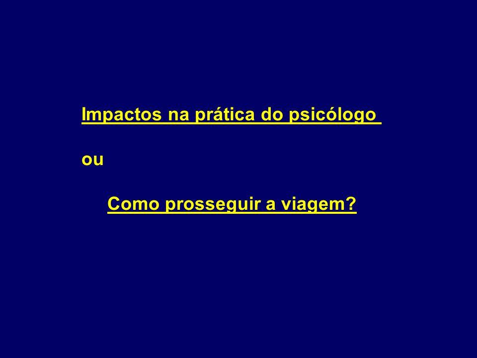 Impactos na prática do psicólogo