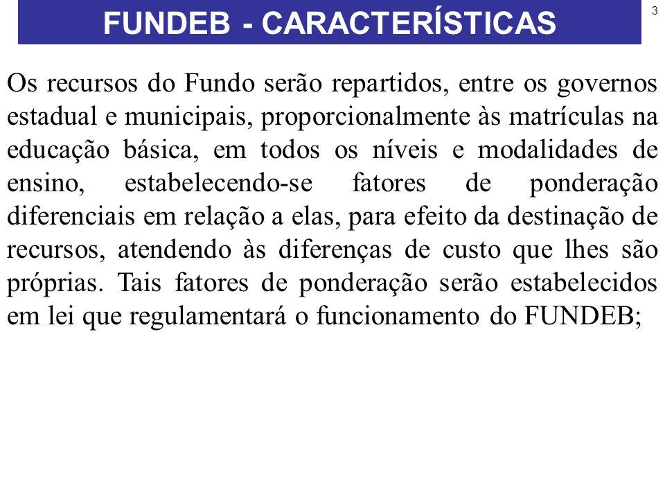 FUNDEB - CARACTERÍSTICAS
