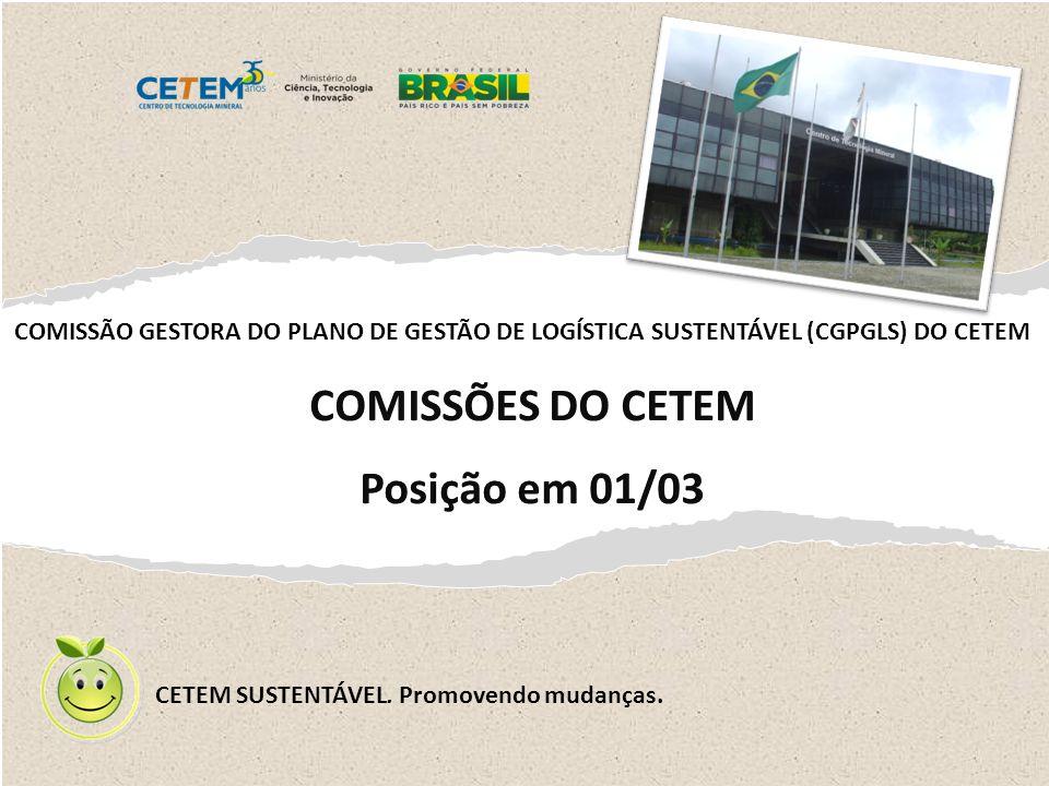 COMISSÕES DO CETEM Posição em 01/03