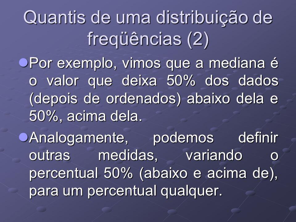Quantis de uma distribuição de freqüências (2)