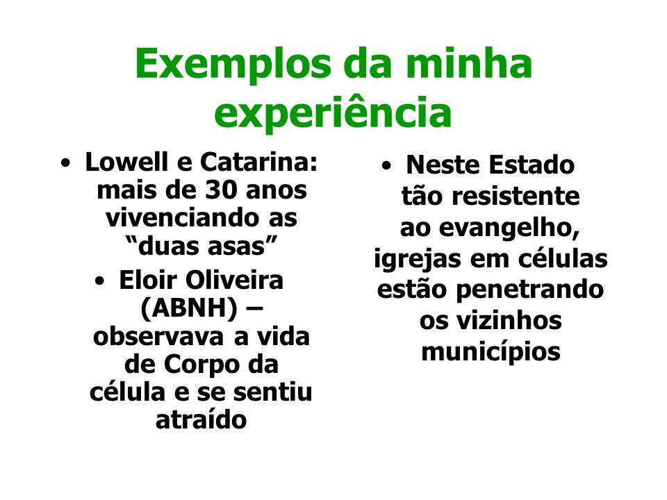 Exemplos da minha experiência