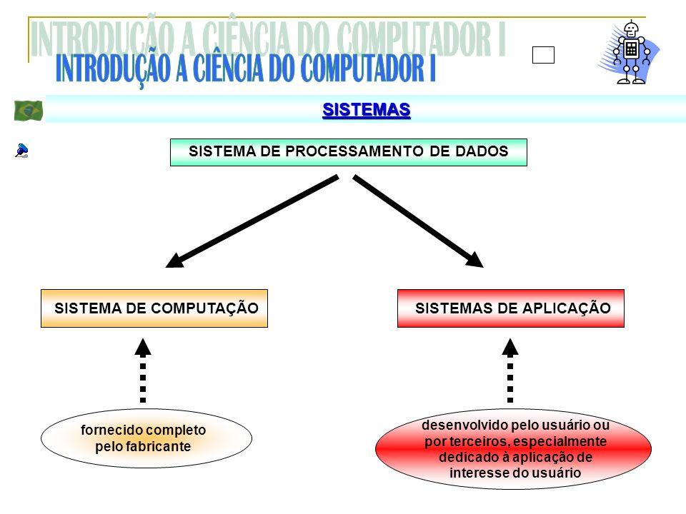 SISTEMA DE PROCESSAMENTO DE DADOS fornecido completo pelo fabricante