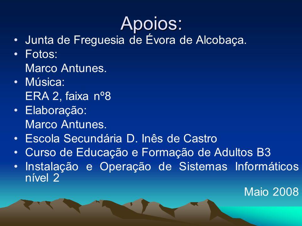 Apoios: Junta de Freguesia de Évora de Alcobaça. Fotos: Marco Antunes.