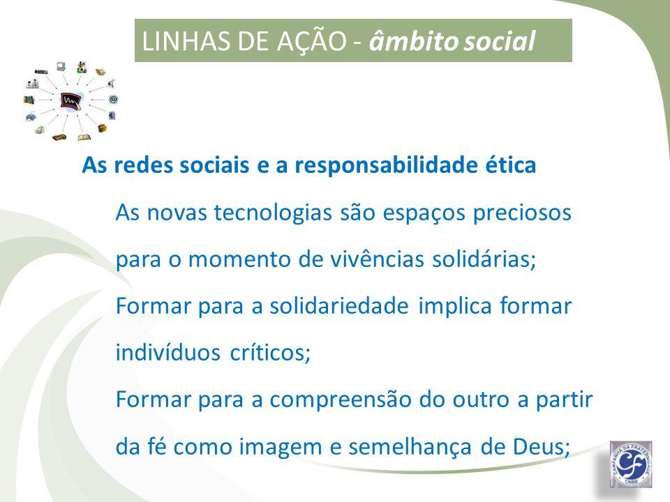 LINHAS DE AÇÃO - âmbito social