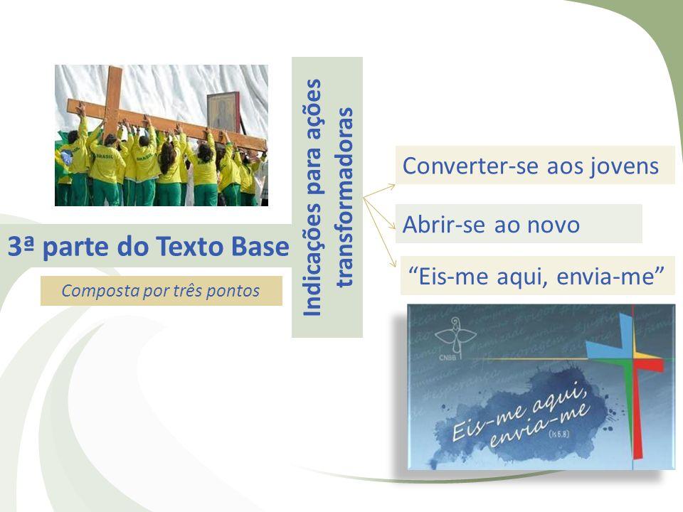 3ª parte do Texto Base Indicações para ações transformadoras