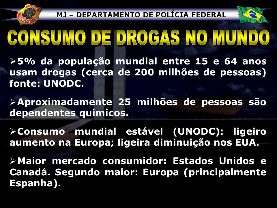 CONSUMO DE DROGAS NO MUNDO