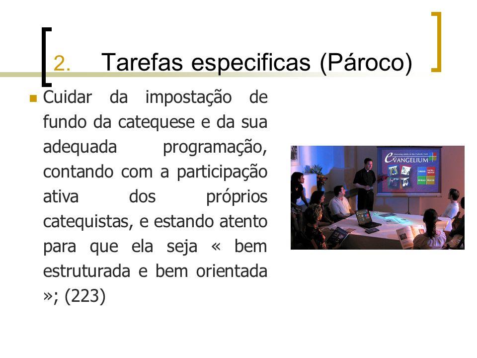 2. Tarefas especificas (Pároco)