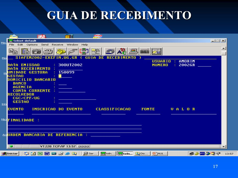 GUIA DE RECEBIMENTO