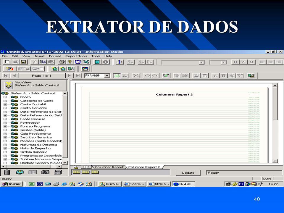 EXTRATOR DE DADOS