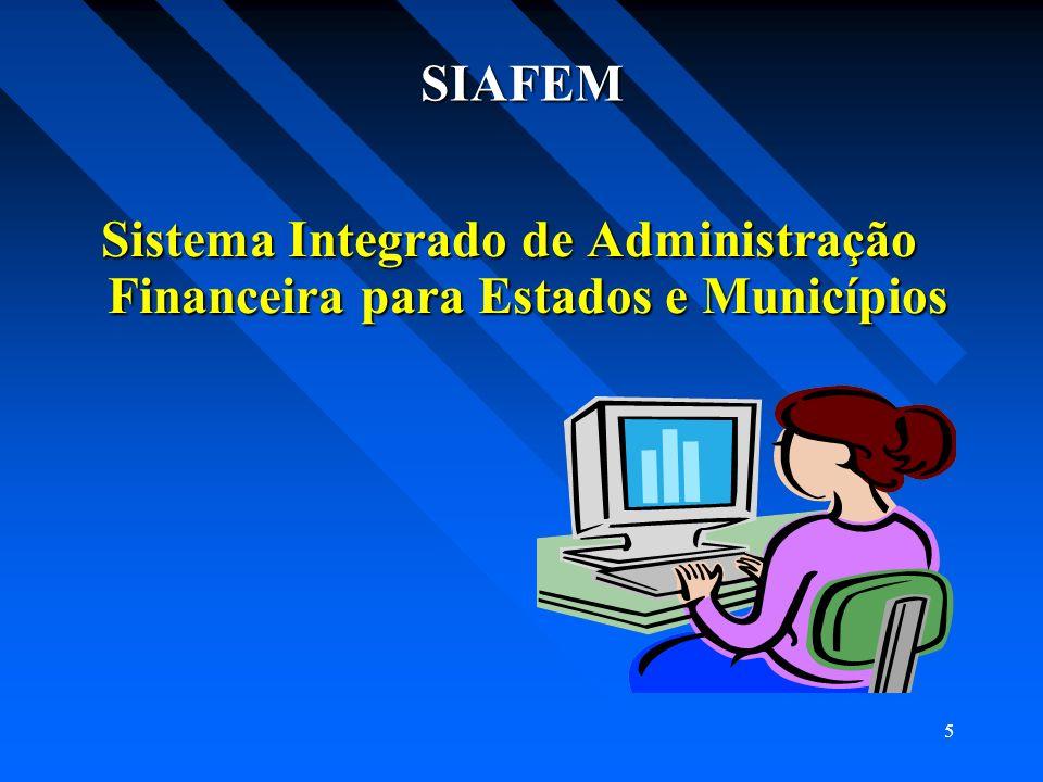 SIAFEM Sistema Integrado de Administração Financeira para Estados e Municípios