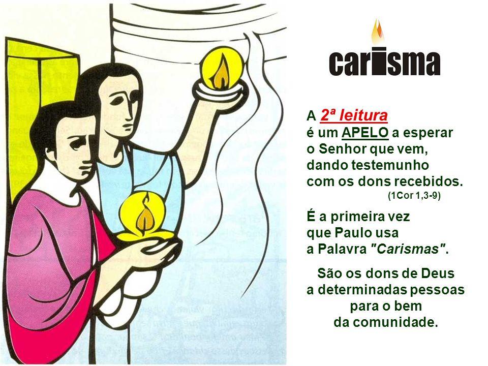 São os dons de Deus a determinadas pessoas para o bem da comunidade.