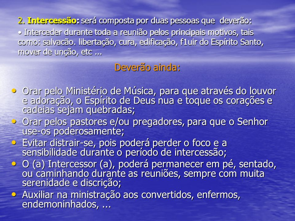 Auxiliar na ministração aos convertidos, enfermos, endemoninhados, ...
