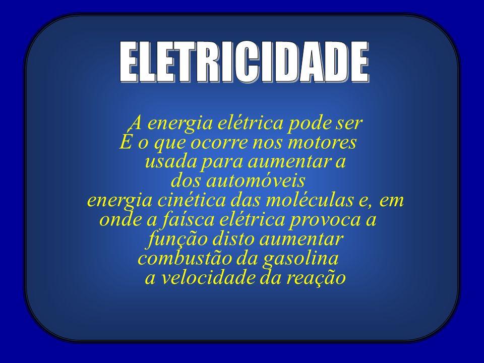 ELETRICIDADE A energia elétrica pode ser É o que ocorre nos motores